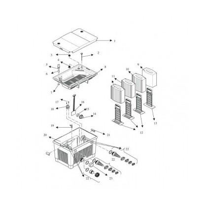 Pièces pour filtre de bassin Oase BioTec 5.1