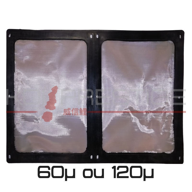 Toile inox 60µ et 120µ pour tambour Aquaforte