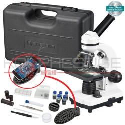 Microscope monoculaire + camera et logiciel