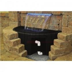 Resevoir semi-circulaire pour cascade de bassin