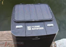 distributeur de nourriture de bassin solaire