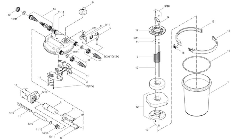 1a241397f22981 Pièces détachées pour filtre de bassin Oase FiltoClear 6000